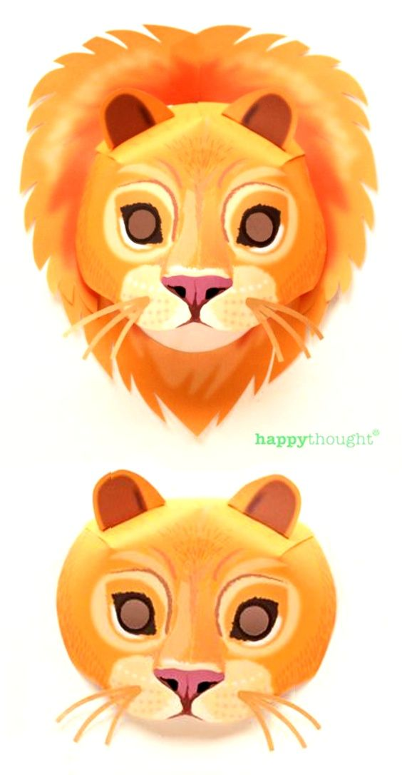 Masketeers printable masks: printable lioness mask | printable.
