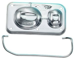 """ProformParts.com - 141-225 Chrome Master Cylinder Cover with single clip. Fits 5"""" x 2-3/8"""", for Power Disk Brakes"""