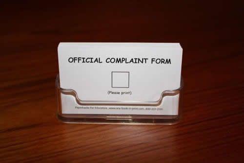 Complaint form - complaint form