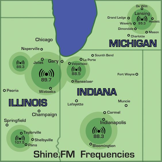 The Shine.FM Frequency Map