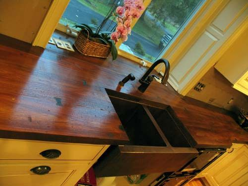 concrete countertops that look like wood
