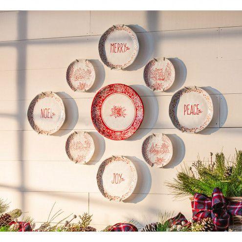 Holiday Farmhouse Ceramic Appetizer Plates Gift Set Of 4 Christmas Plates Appetizer Plates Plates