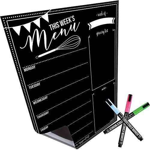 Magnetic Dry Erase Menu Board For Fridge With Bright Neo Https Www Amazon Com Dp B07bkpxhcj Ref Cm Sw R Pi Dp U X Gyr Chalk Markers Neon Chalk Dry Erase