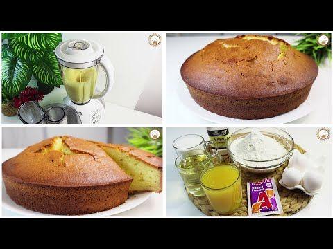 كيك البرتقال الهش بالخلاط بدون خفاقة بمكونات متوافرة في كل منزل Youtube Food Breakfast Muffin