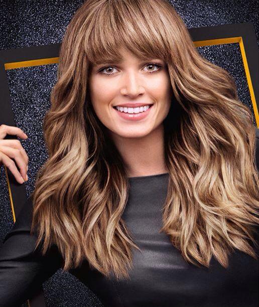 Beautiful haircolor and bangs