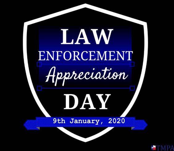 National Law Enforcement Appreciation Day 2021 Saturday 9 January Technewssources Com Law Enforcement Appreciation Law Enforcement Memorial Law Enforcement