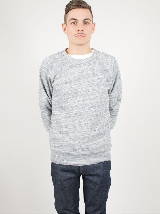 Our Legacy 50's Sweater Blue Grey Melange