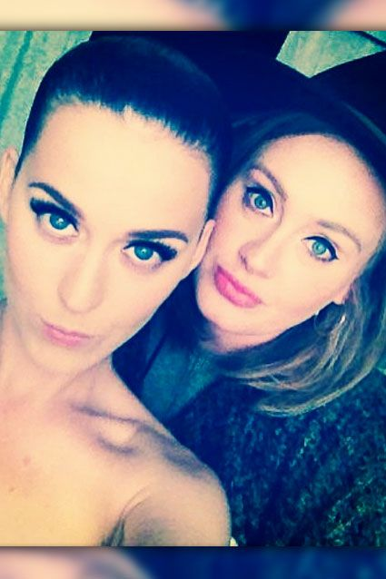 Katy Perry and Adele gave their best pouts for this selfie posted on May 28, 2014.
