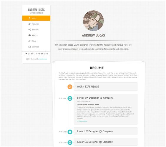 7 Creative Online CV Resume Template for Web, Graphic Designer - resume designer online