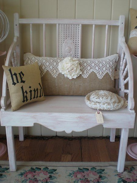 lace and burlap pillow: