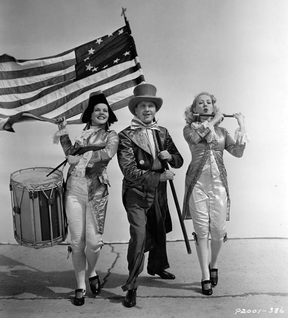 Zoe Dell Lantis, Jack Benny and Betty Grable...Happy Fourth of July!