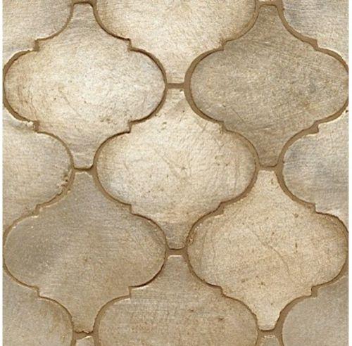 marokkanische muster Fliesen mit silbernen Glanz