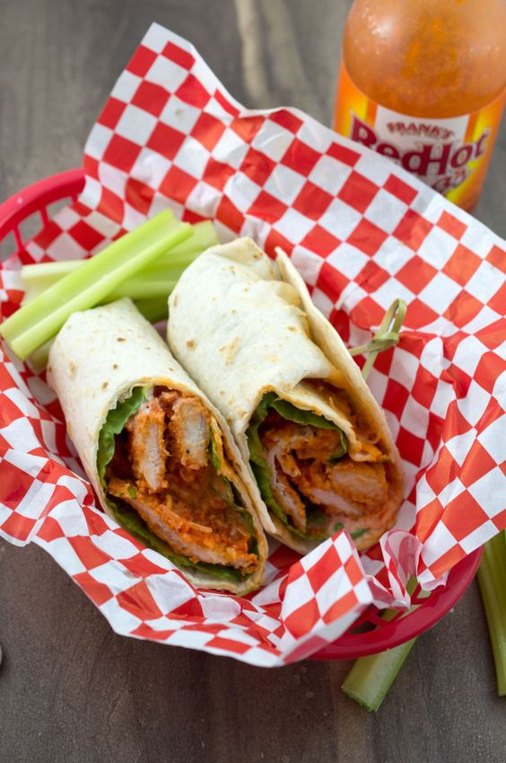 Baked Buffalo Chicken Wrap  MADE THIS RECIPE 5/26/14 and it turned out perfect! Tasted just like a restaurant and was the perfect recipe for two people. Saving this one, thank you Pinterest for the good find