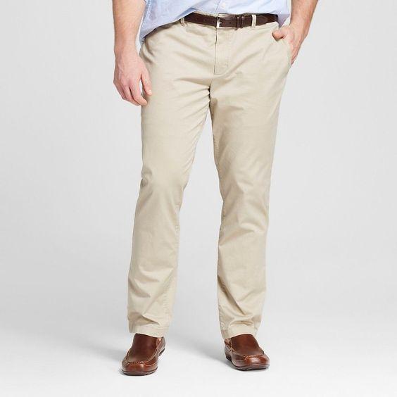 Men's Tall Chino Pants Khaki (Green) 36x36 - Merona | Cachi, Verde ...