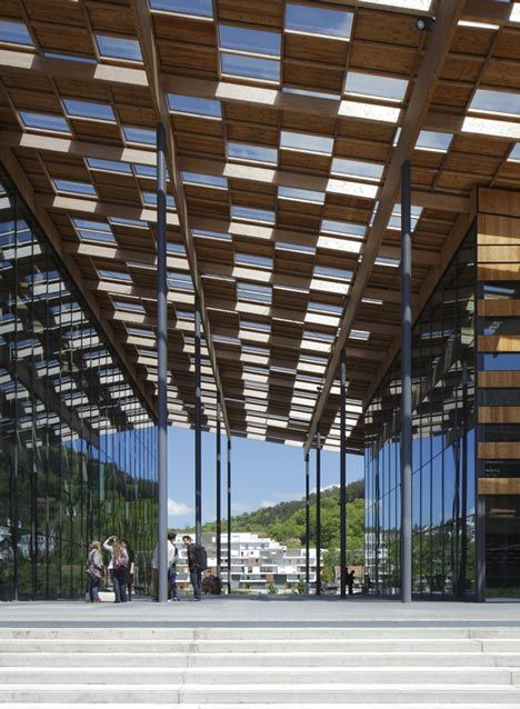 Besancon art centre and cite de la musique by kengo kuma and associates arq - Besancon cite des arts ...