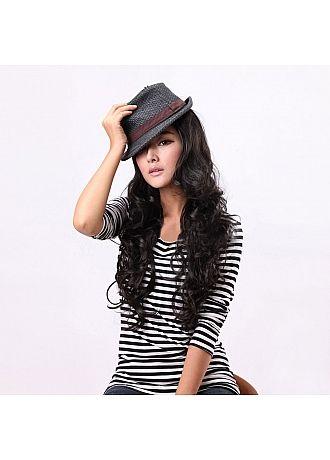 Capless High Quality Wave Long Black Hair Wig