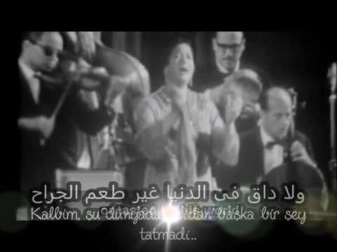 Ummu Gulsum Inta Omri انت عمري أم كلثوم Turkce Ceviri Youtube Music Songs Music Songs