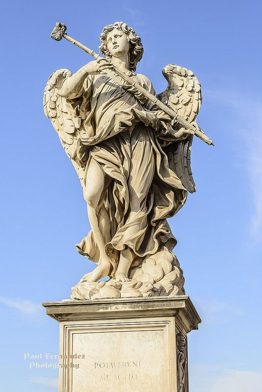 Angel with the Sponge on Ponte Sant'Angelo, Rome, Italy