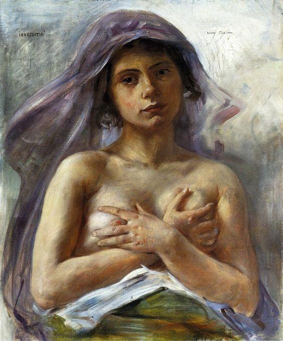 Lovis Corinth. Innocentia 1890. Huile sur toile 66,5 x 54,5 cm