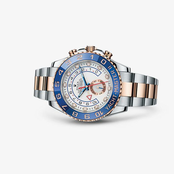 Discover the Yacht-Master II watch in Everose Rolesor - combination of 904L steel and 18 ct Everose gold on the Official Rolex Website. Model: 116681