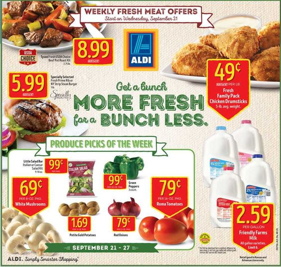 Aldi Weekly Ad September 21 - 27, 2016 - http://www.olcatalog.com/grocery/aldi-ad.html