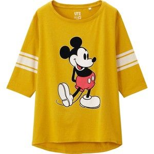UNIQLO Women Disney Project 3/4 Sleeve Graphic T-Shirt
