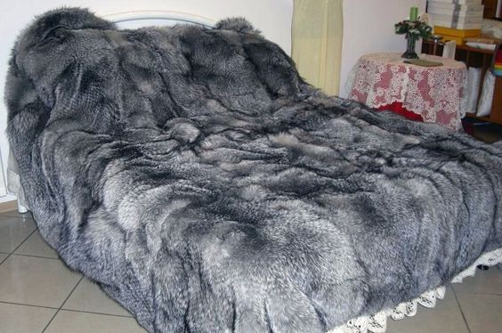 Fox Fur Covered Bed Cozy On Up Throughs Rugs And