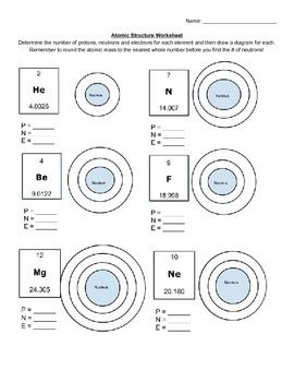 Worksheets Worksheets On Atoms a well student and the ojays on pinterest atomic structure worksheet