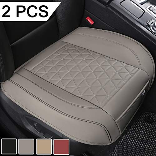 Black Panther 2 Pcs Luxury Pu Leather Car Seat Covers Protectors