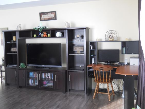 Living Room- Entertainment Stand And Computer Desk | Hoops Loop