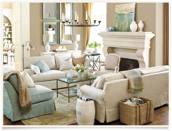 Best Deep Beige Khaki Colored Walls With Blue Green Accents 400 x 300