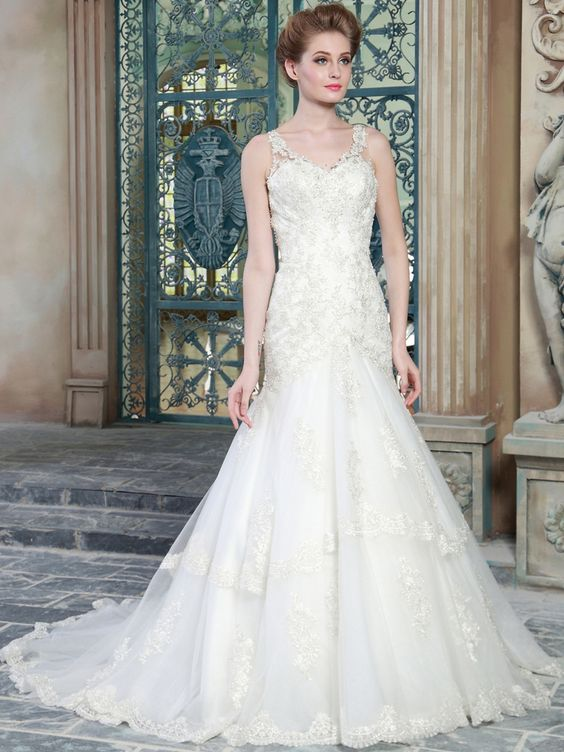 modabridal.co.uk SUPPLIES Customized Court Lace Beading Elegant & Luxurious Winter Glamorous & Dramatic All Sizes Summer Wedding Dress Lace Wedding Dresses: