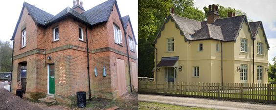 Before And After Rendered Houses External Wall Insulation House Styles