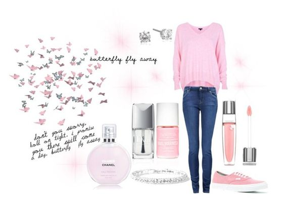 """""""Butterfly fly away"""" by djordjijak ❤ liked on Polyvore featuring beauty, River Island, Vans, Paul by Paul Smith, Chanel, Jack Wills and Lancôme"""