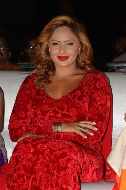 Nikesha Patel Latest Hot Glamourous Red Skirt PhotoShoot Images At Araku Road Lo Audio Launch  actress Nikesha Patel