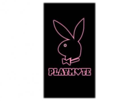 PLAYBOY TELO MARE ROSA PLAYMATE  Telo mare in spugna-color nero con disegno coniglio bianco misure 80x150 cm