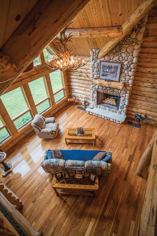 Amish Built Big Bend Log Home Log Homes Amish House Small