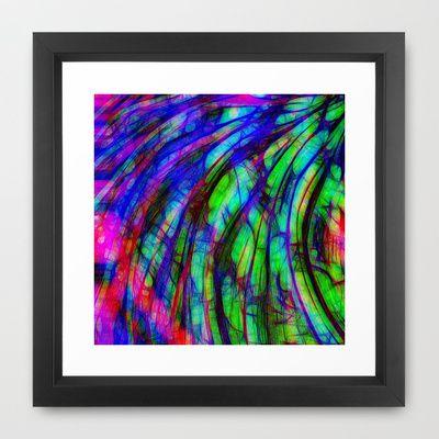 Color Storm Framed Art Print by MehrFarbeimLeben - $32.00