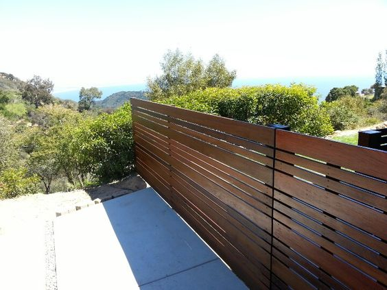 Brazilian hardwood modern fence ipe is one of the most beautiful materials to build fences with - Most frequent fence materials ...