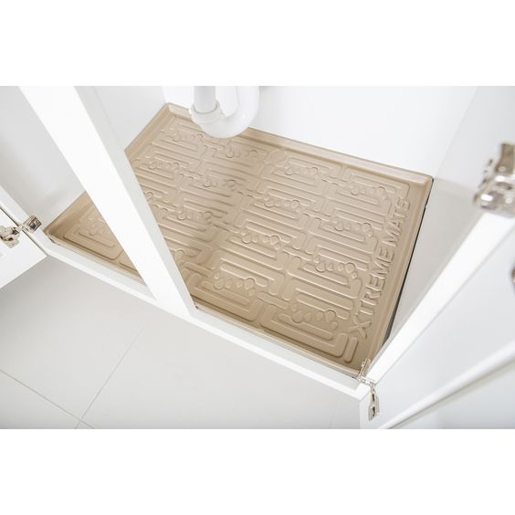 Having a mat under my cabinets would be so helpful. It would make cleaning up done there easy. It looks like it might also help with waterproofing your cabinets.