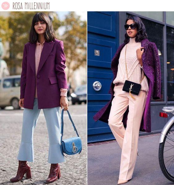 Ultra Violet com rosa millennium