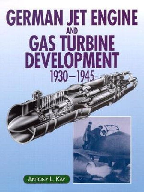 Developmental history of German jet engine including original design plans, photographs of prototypes, technical diagrams and graphs. It begins with the theoretical work of early designers but concent