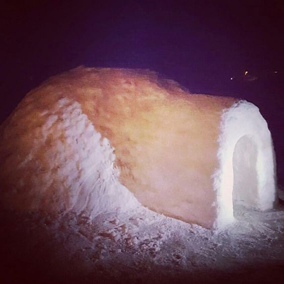 Igloo built in new mexico by toria and andrew