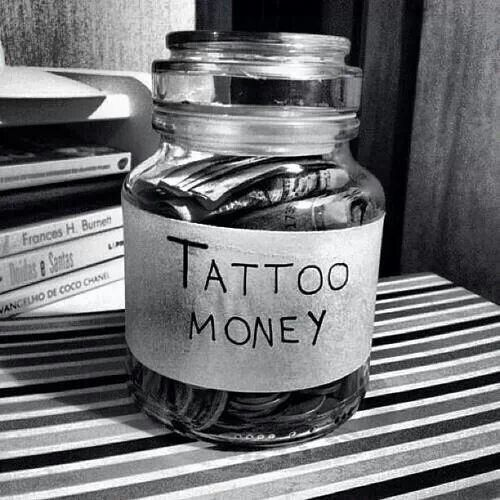 Image result for tattoo money jar
