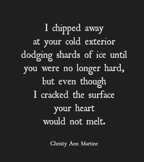 Poems - (When you try to love someone unlovable) ~ short poem by Christy Ann ...