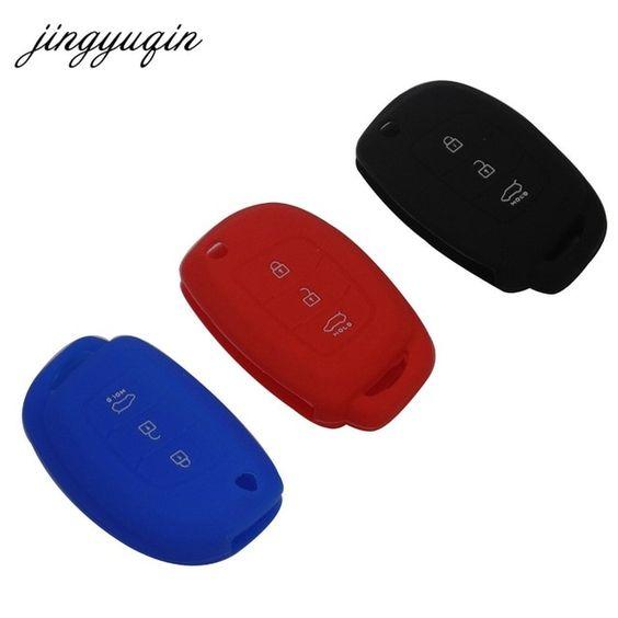 Jingyuqin Silicone Car Flip Key Cover Case For Hyundai I10 I20 Ix25 Ix35 Ix45 Elantra Accent Car Styling Review Accent Car Interior Accessories Key Covers