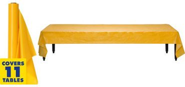 Sunshine Yellow Plastic Table Cover Roll