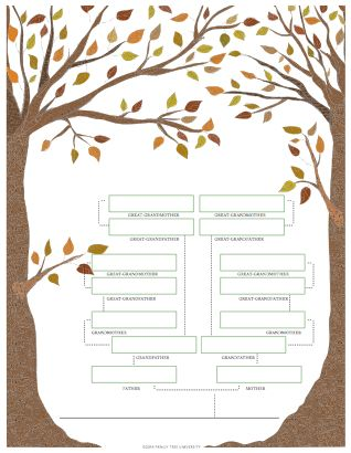 If you haven't snagged them yet, we have 4 Free Family Tree Templates!: