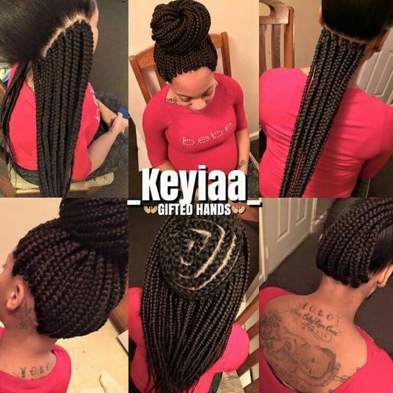 Small Crochet Hair Styles : Crochet box braids Braids, Twists, Locs Pinterest Patterns ...