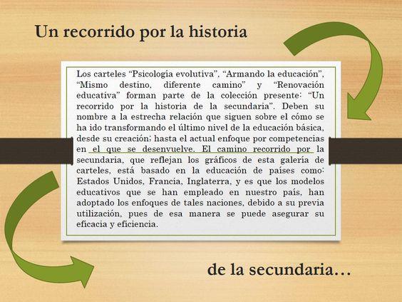 """Colección de carteles: """"Un recorrido por la historia de la secundaria"""" Autor: Romeo José Sarmiento García Fecha: 8 de enero de 2014"""